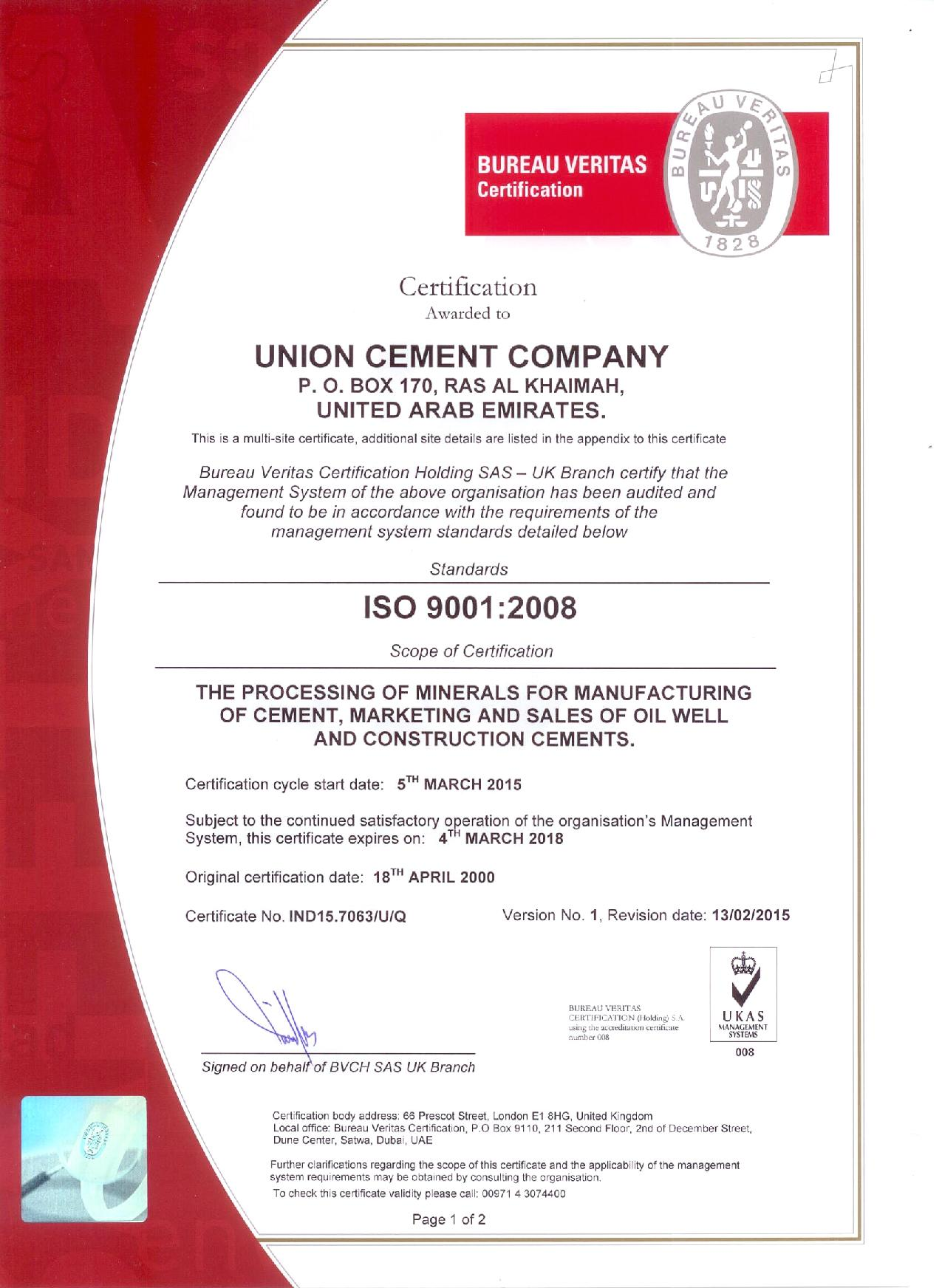 Welcome to Union Cement Company